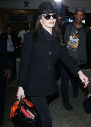 Catherine Zeta Jones at LAX Airport in Los Angeles