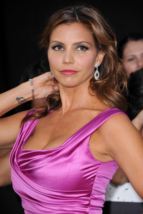 Charisma Carpenter cleavage at The Expendables 2 Premiere