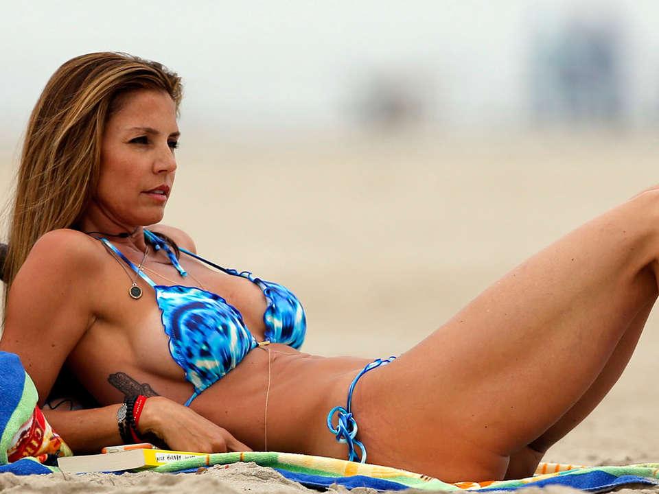 Charisma Carpenter In Bikini In Malibu