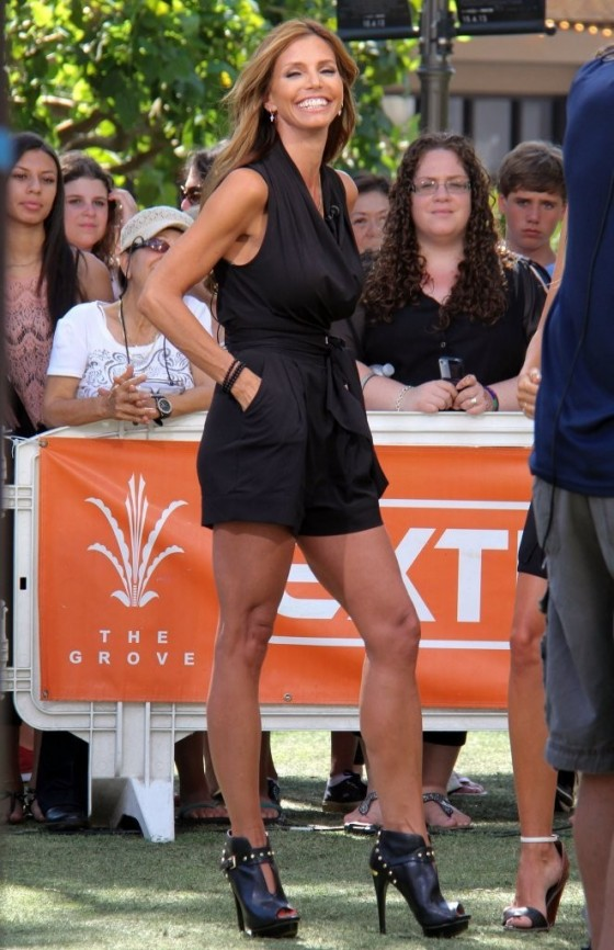 Charisma Carpenter – on the set of Extra in LA