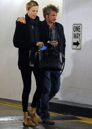 Charlize Theron and Sean Penn headed to the cinema in Los Angeles