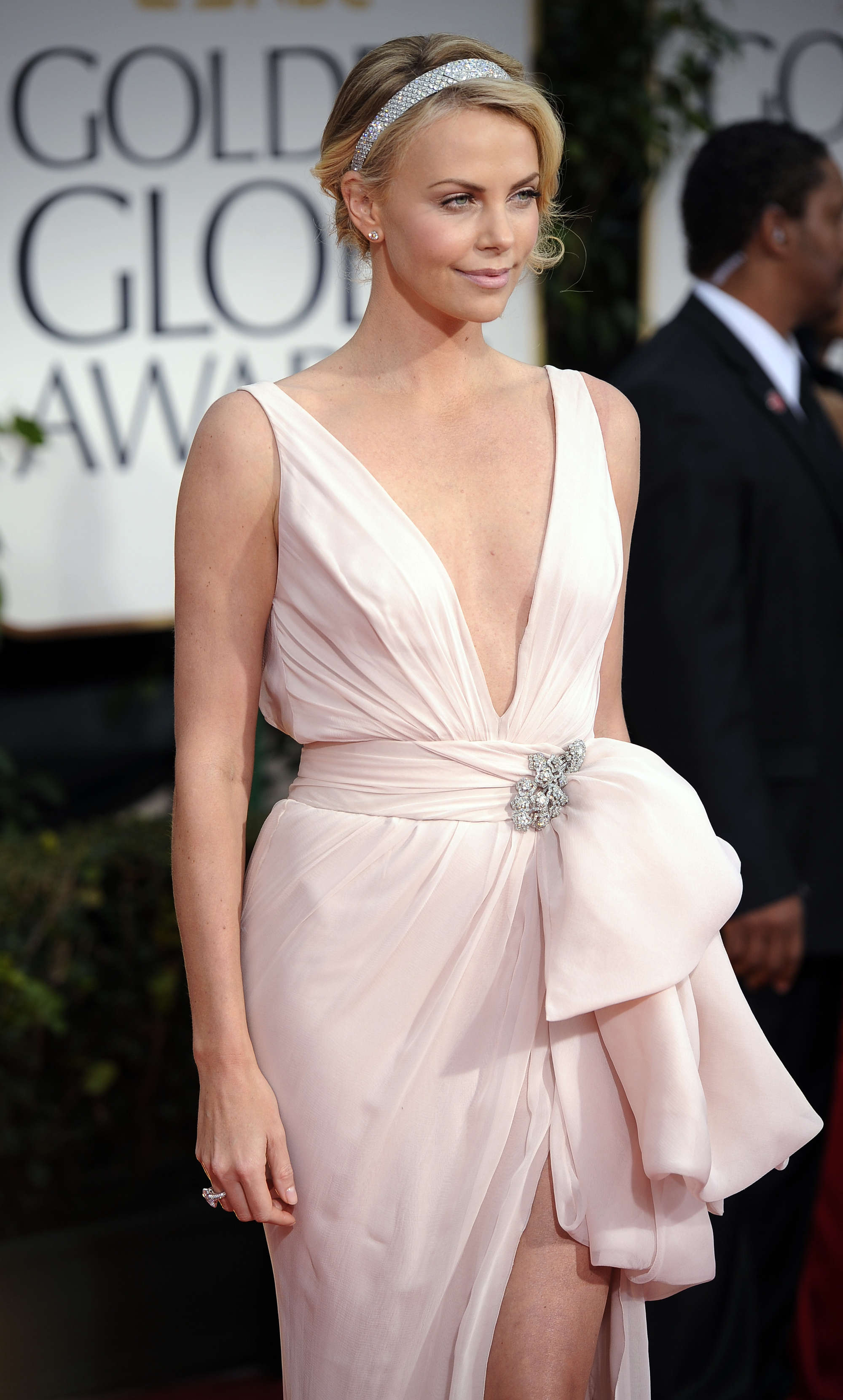 cb29d5c4682d0 Charlize Theron cleavy at 69th Annual Golden Globe Awards in LA-01 ...