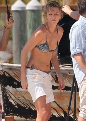 Charlize Theron Bikini Photos: 2014 Miami -03