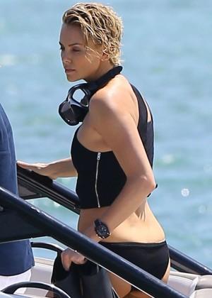 Charlize Theron Bikini Photos: 2014 Miami -04