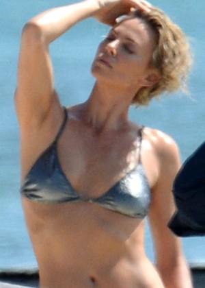 Charlize Theron Bikini Photos: 2014 Miami -05