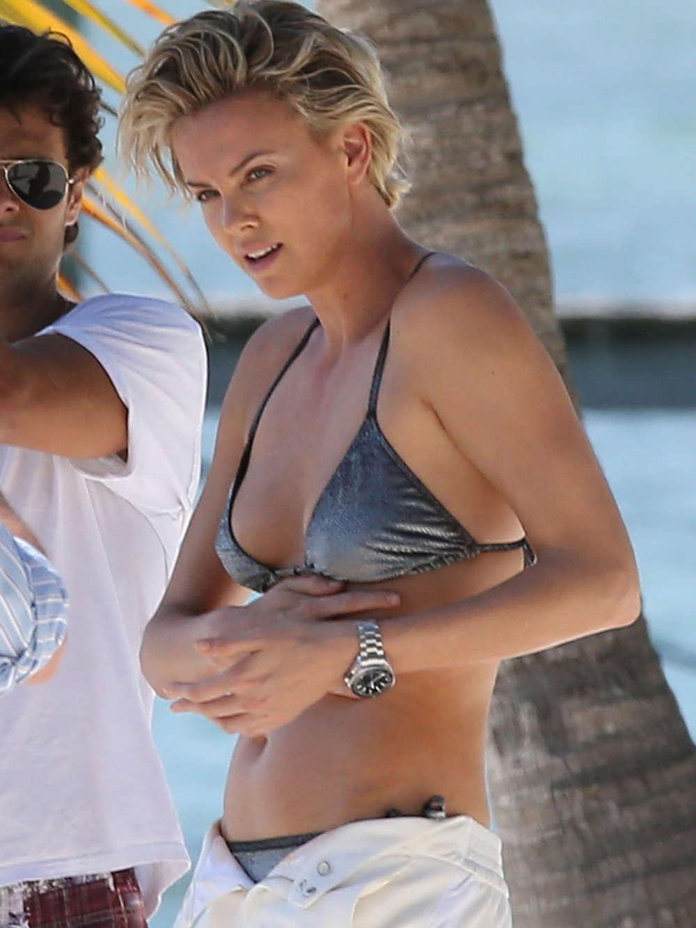 Theron bikini charlize Hot photos