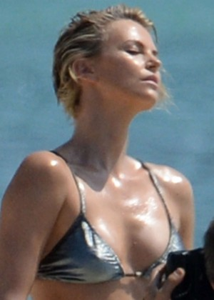 Charlize Theron Bikini Photos: 2014 Miami -09