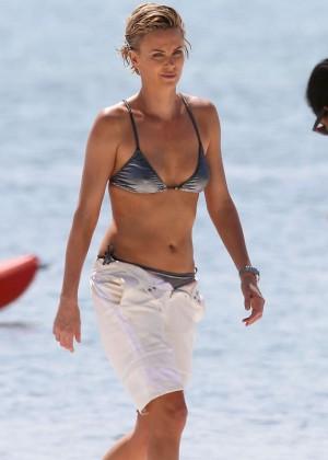 Charlize Theron Bikini Photos: 2014 Miami -11