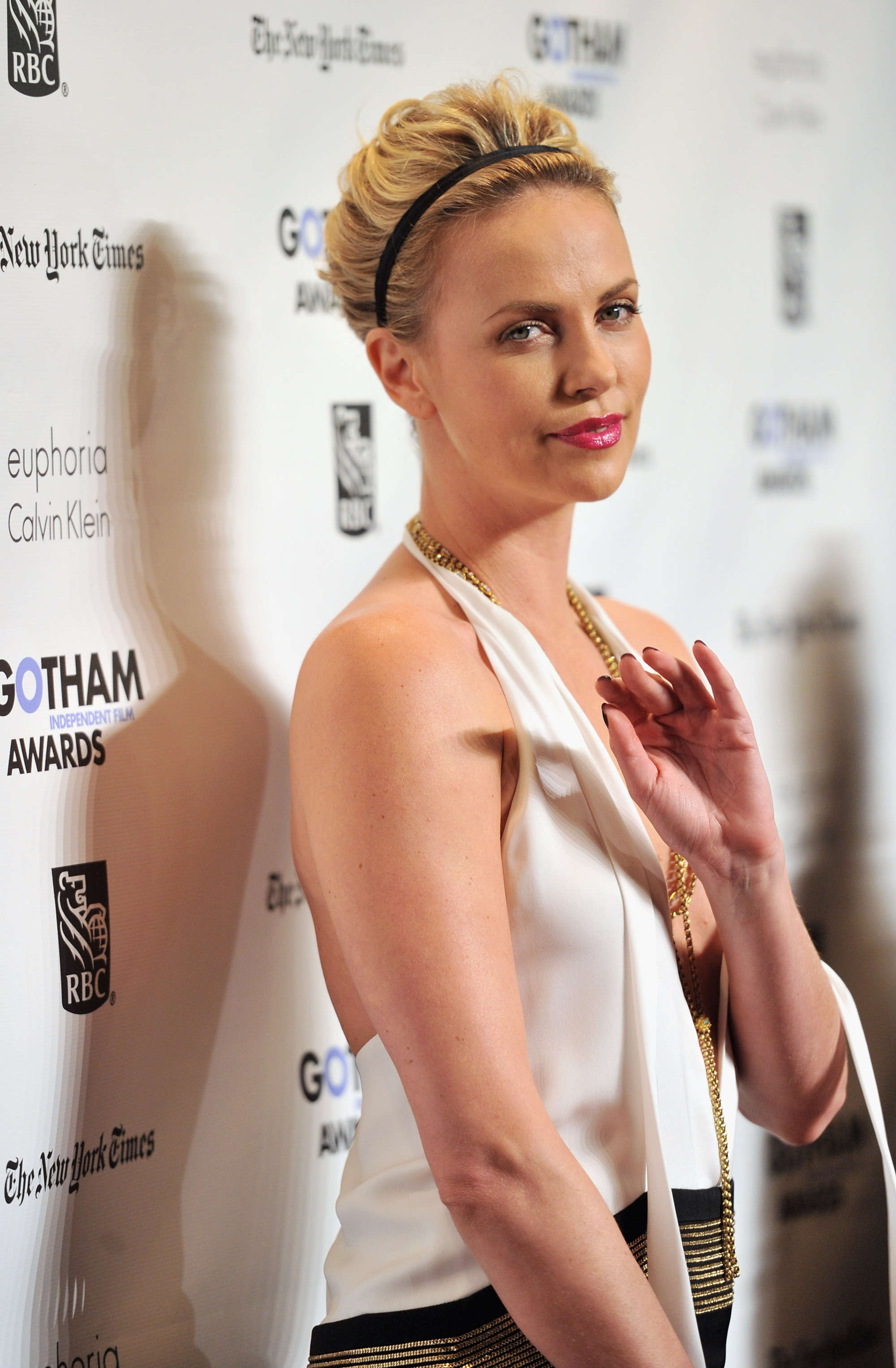 Charlize Theron Cleavage At Gotham Independent Film