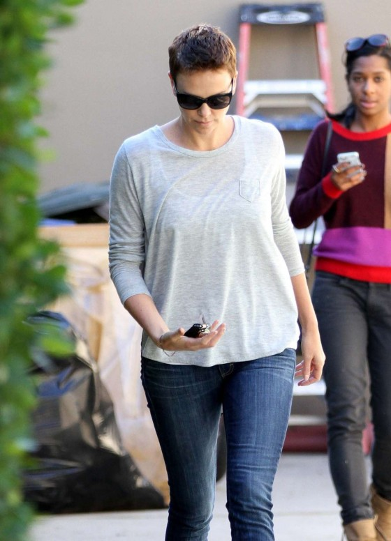 Charlize Theron - In Jeans Out in West Hollywood