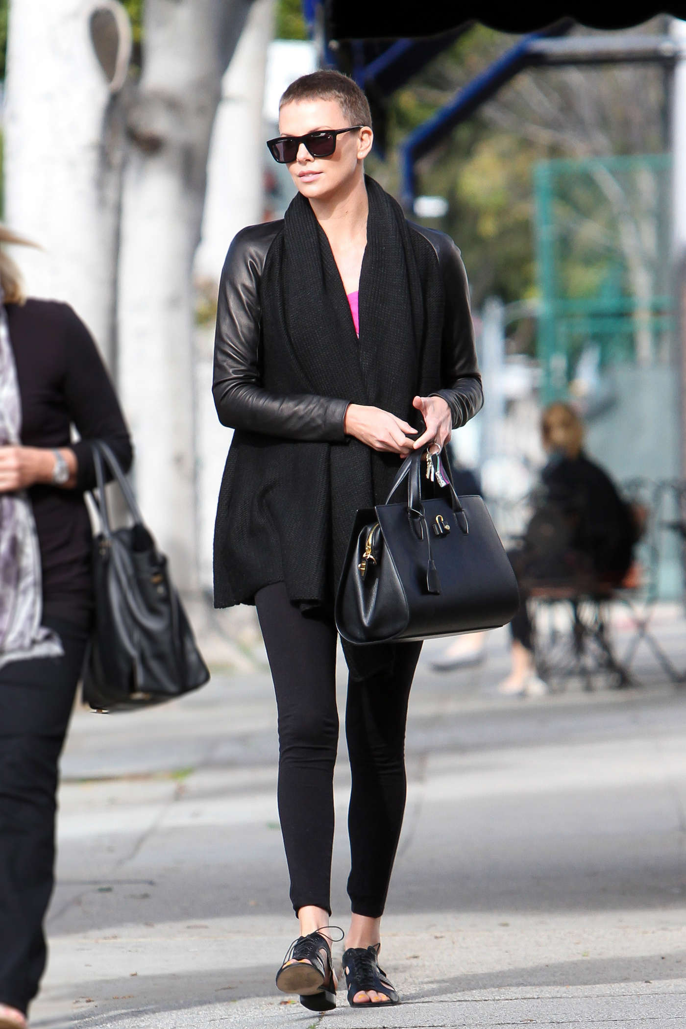 Charlize Theron Tights Candids Out In Beverly Hills 17