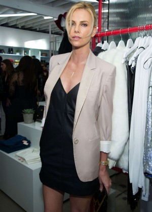 Charlize Theron - Nasty Gal Melrose Store Launch in LA