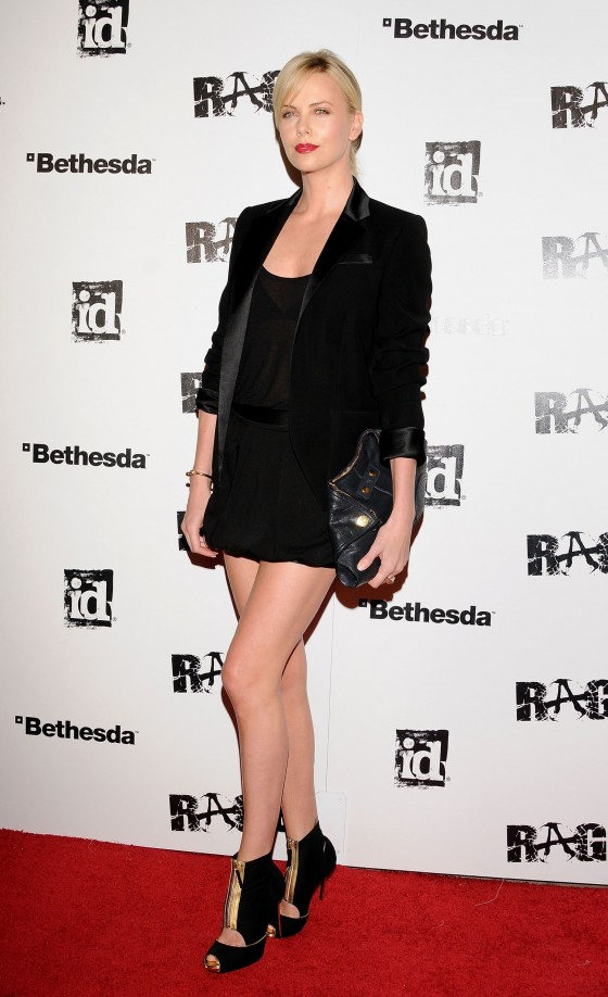 Charlize Theron Leggy at Launch Party for RAGE in Los Angeles-03