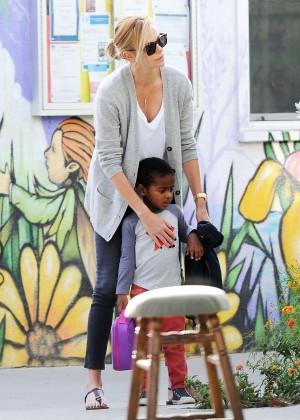 Charlize Theron in Black Leggings -27