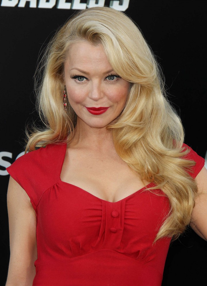 "Charlotte Ross in tight red dress at ""The Expendables 3"" Premiere in Hollywood"