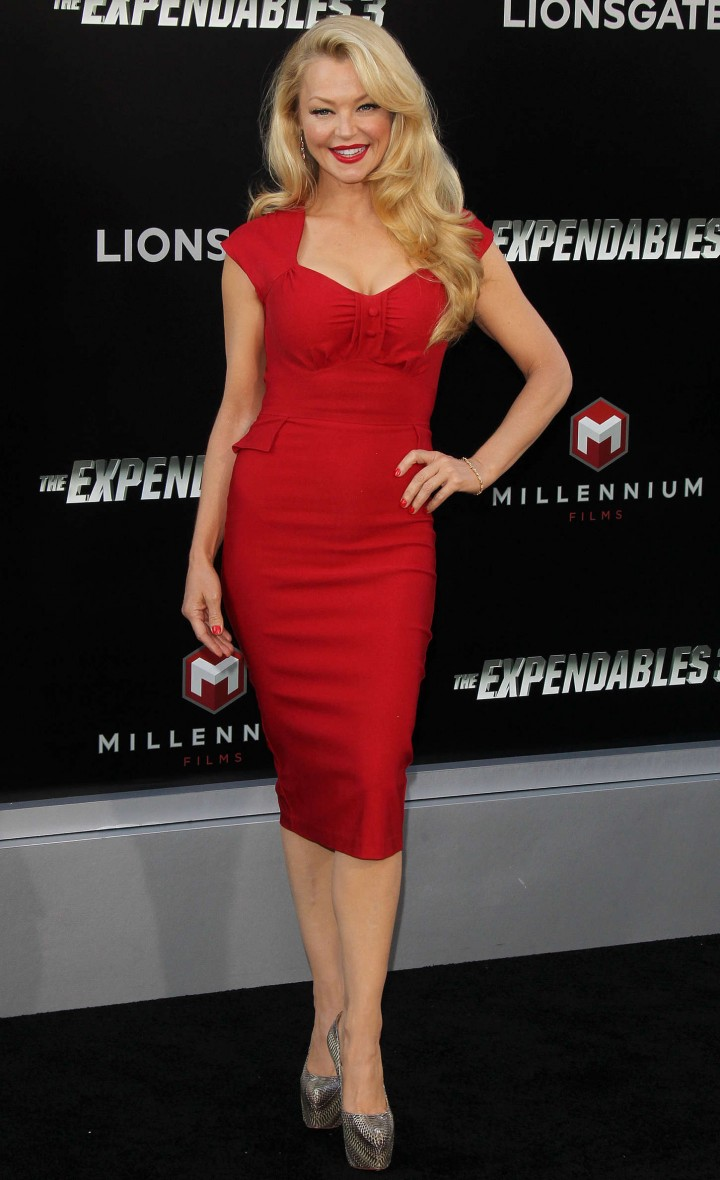 Charlotte Ross: The Expendables 3 LA Premiere -03
