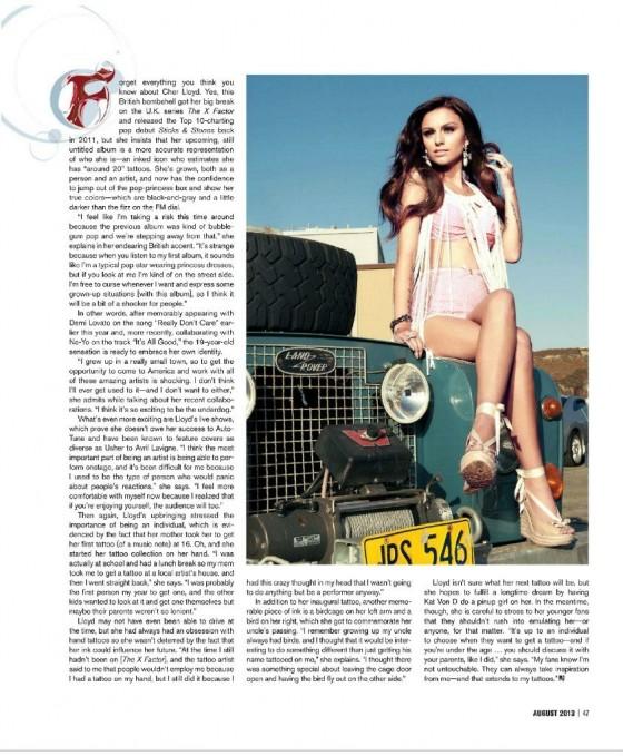 Cher Lloyd – Inked Magazine 2013 -01