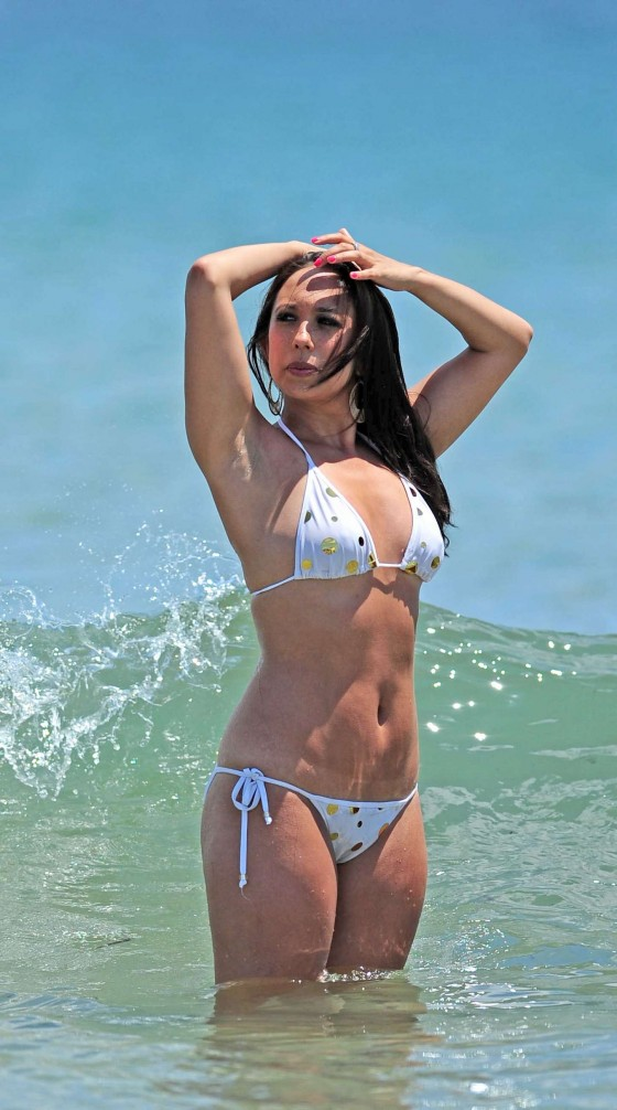 Cheryl Burke - Hot in white bikini in Ibiza