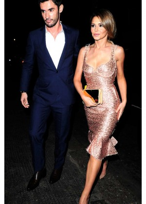 Cheryl Cole and Jean-Bernard Arriving at Simon Cowells Birthday Party in London