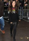 Cheryl Cole in short dress at BBC Maida Vale studios in London