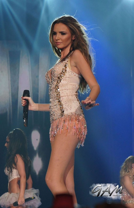 Cheryl Cole – performing with Girls Aloud in Newcastle -03