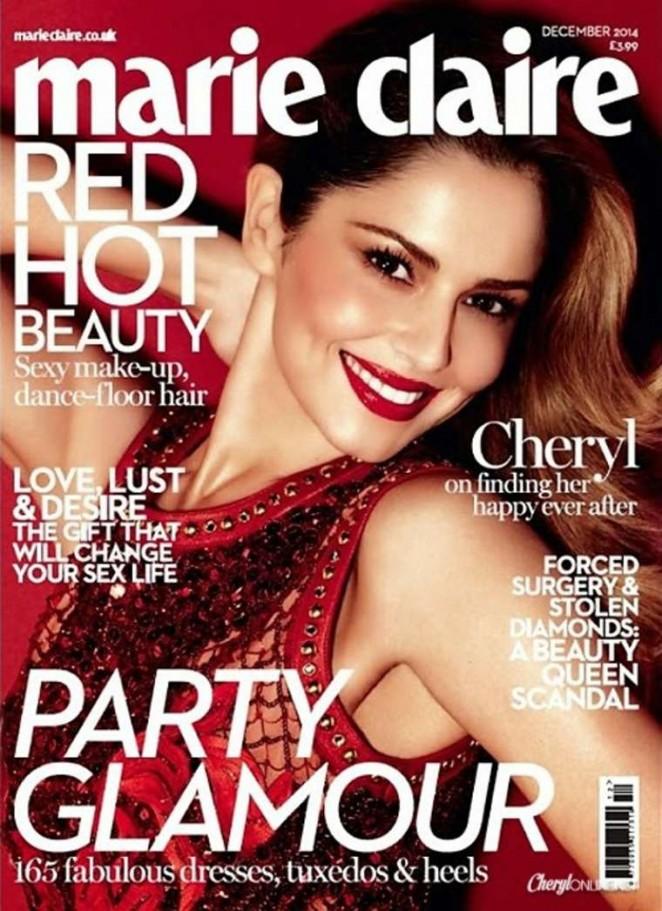 Cheryl Fernandez-Versini - Marie Claire UK Magazine Cover (December 2014)
