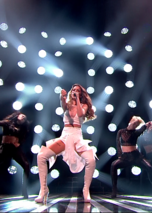 Cheryl Fernandez-Versini: Performs at X Factor -22