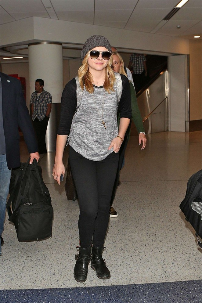 Chloe Moretz at LAX Airport in LA