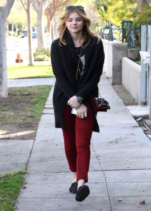 Chloe Moretz in Red Pants -17