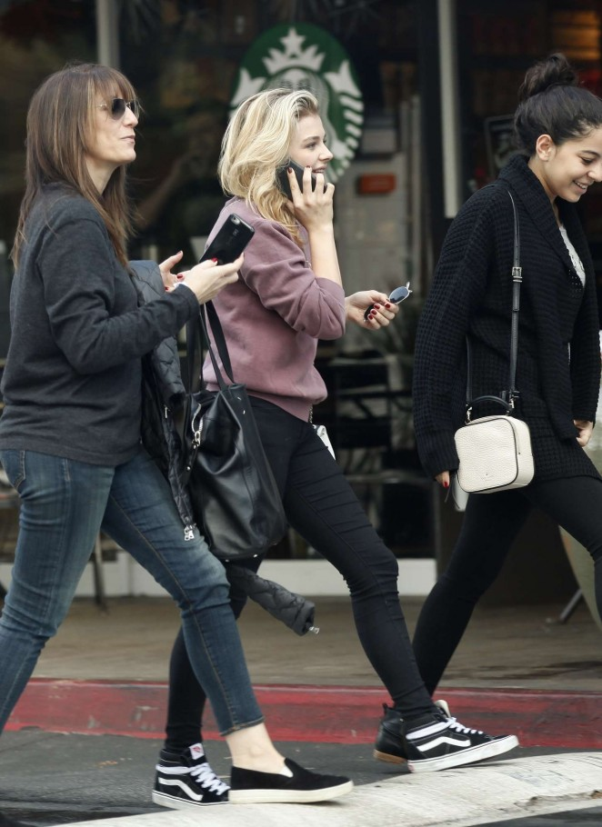 Chloe Moretz and friends out in LA