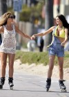 Chloe Sims and Lauren Pope - Skating candids In Hollywood-21