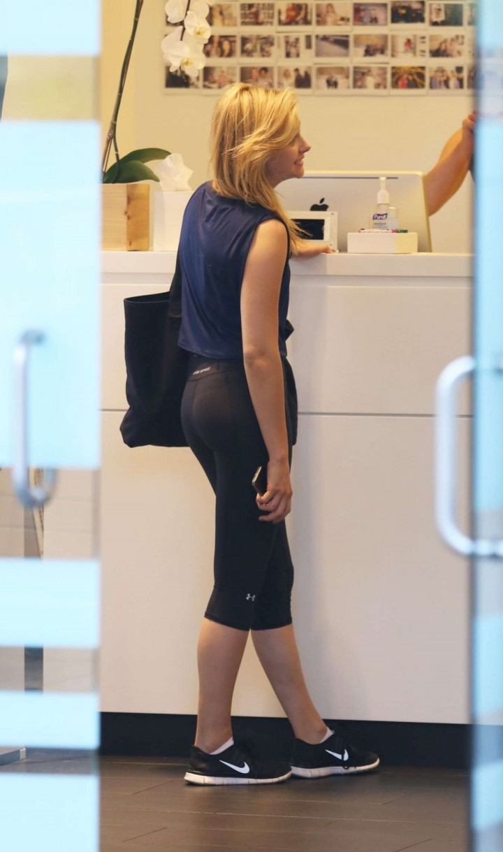 Chole Moretz in Tights out in NYC