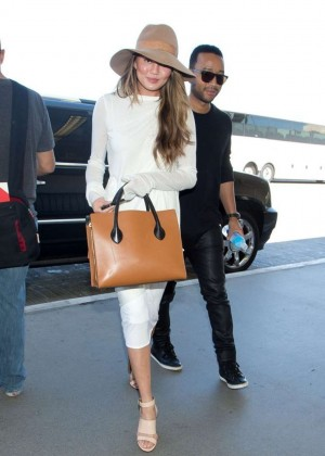 Chrissy Teigen at LAX in LA