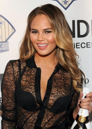 Chrissy Teigen - DuJour Magazine and NYY Steak Event in NYC