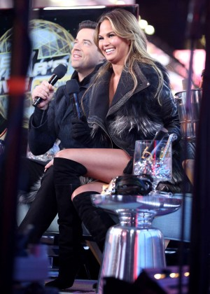 Chrissy Teigen - New Year's Eve at Times Square in NYC
