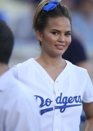 Chrissy Teigen: first pitch at Dodger Stadium-05