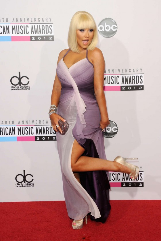 Christina Aguilera - AMA American Music Awards 2012 in Los Angeles