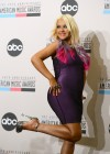 Christina Aguilera showing legs in tight mini dress at AMA Nominations Press Conference in LA