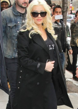 Christina Aguilera out of her hotel in NYC -01
