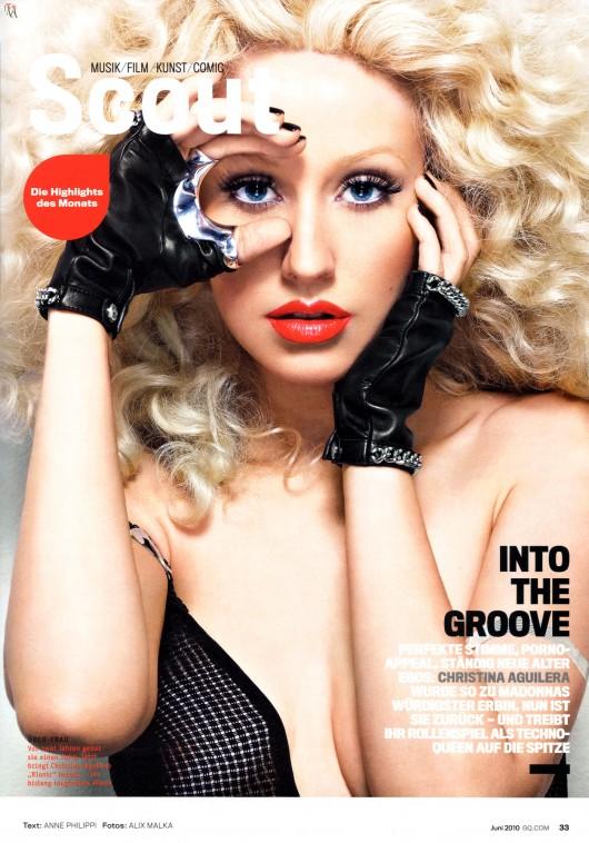 Christina Aguilera in GQ Germany Magazine – Issue June 2010 (HQ)