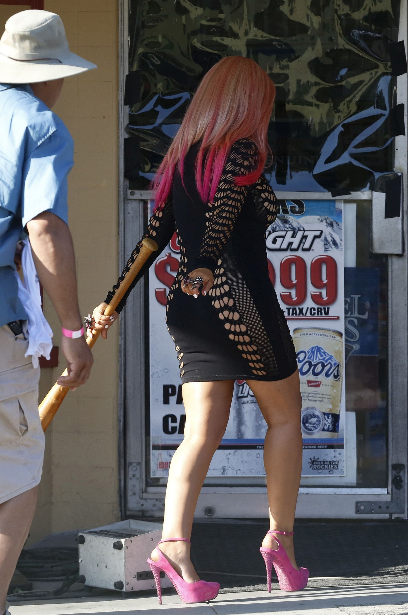 Christina Aguilera 2012 : Christina Aguilera leggy in tight mini dress-08