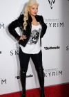 Christina Aguilera - Candids at The Elder Scrolls V party in LA-01