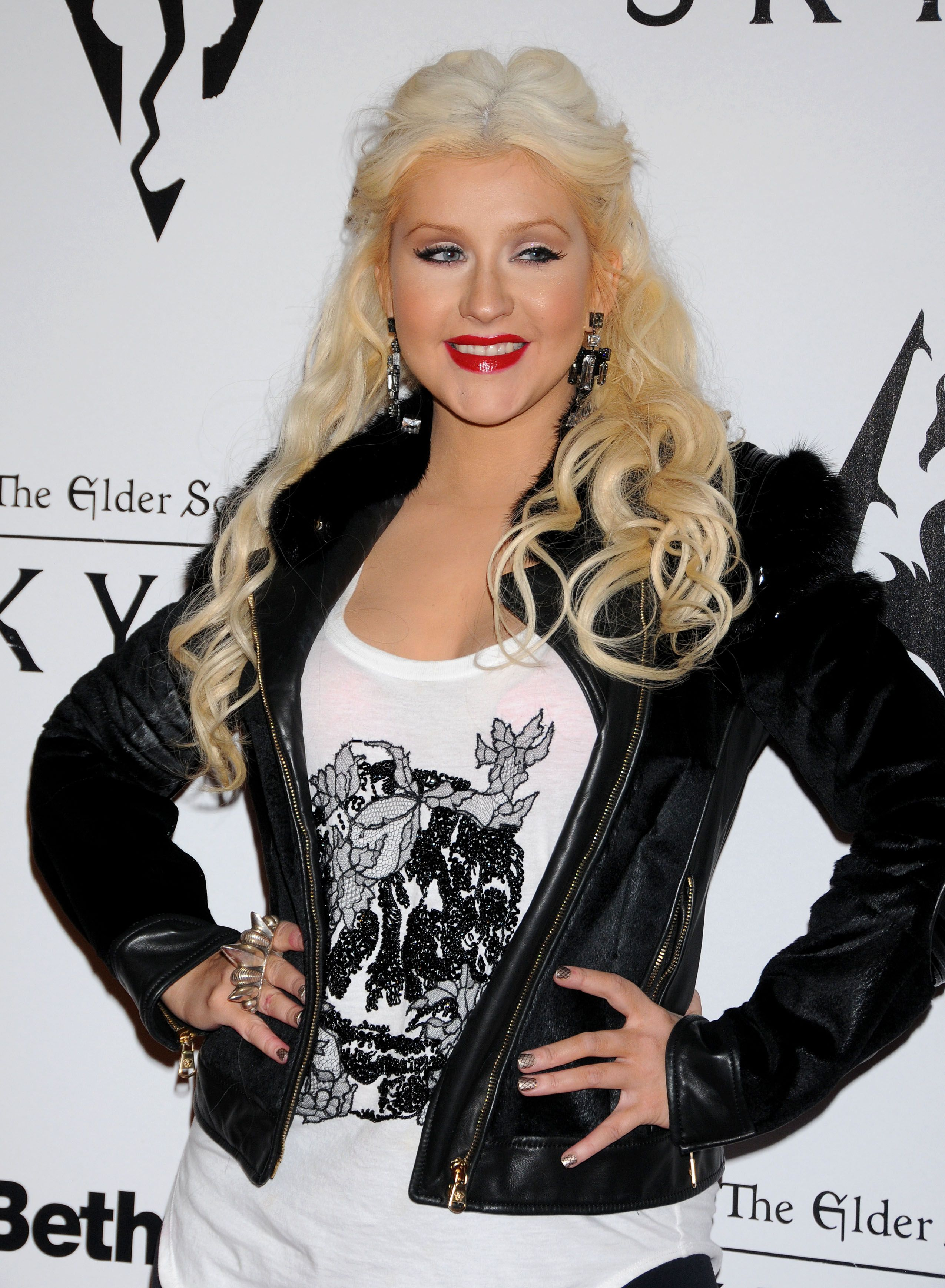 Christina Aguilera – Candids at The Elder Scrolls V party in LA-04