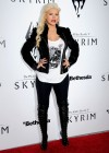 Christina Aguilera - Candids at The Elder Scrolls V party in LA-07