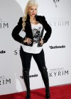 Christina Aguilera - Candids at The Elder Scrolls V party in LA-08