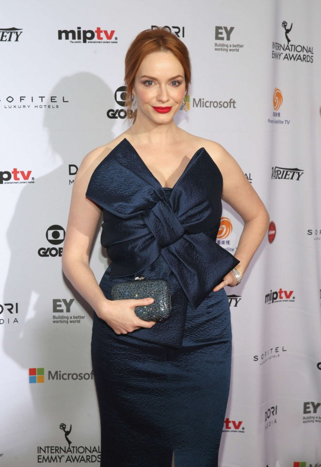 Christina Hendricks - 2014 International Academy Of Television Arts & Sciences Emmy Awards in NYC