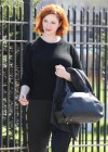 Christina Hendricks - How to Catch a Monster set photos -01