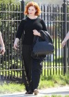 Christina Hendricks - How to Catch a Monster set photos -04