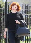 Christina Hendricks - How to Catch a Monster set photos -05