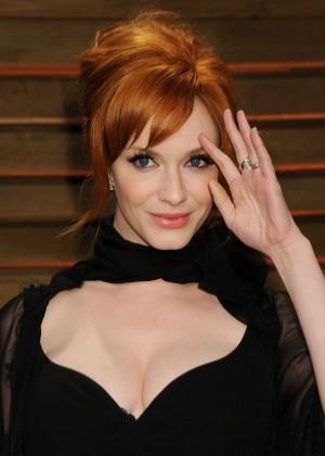 Christina Hendricks: Oscar 2014 - Vanity Fair Party -01